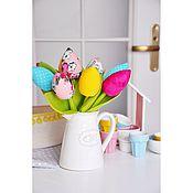 """Цветы и флористика ручной работы. Ярмарка Мастеров - ручная работа Тюльпаны """"Позитивчики"""". Handmade."""