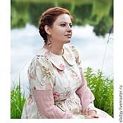 Одежда ручной работы. Ярмарка Мастеров - ручная работа Хлопковое платье комбинированное. Handmade.