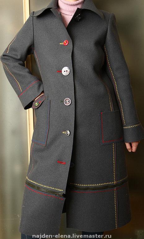Верхняя одежда ручной работы. Ярмарка Мастеров - ручная работа. Купить Пальто демисезонное. Handmade. Пальто