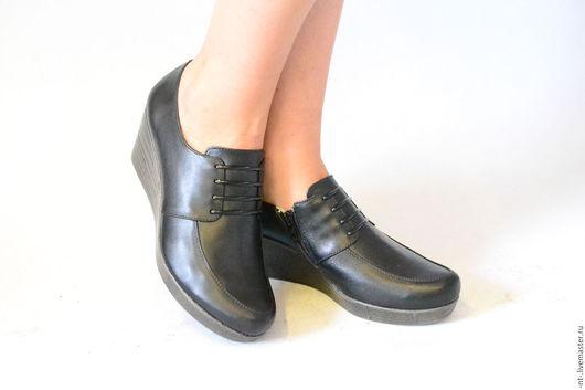 Обувь ручной работы. Ярмарка Мастеров - ручная работа. Купить Классик. Handmade. Черный, туфли из кожи, натуральная кожа