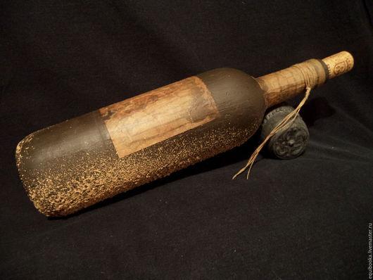 """Статуэтки ручной работы. Ярмарка Мастеров - ручная работа. Купить """"Старая винная бутылка"""". Handmade. Темно-серый, морской стиль"""