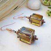 Украшения manualidades. Livemaster - hecho a mano Earrings lampwork beads jelly. Handmade.