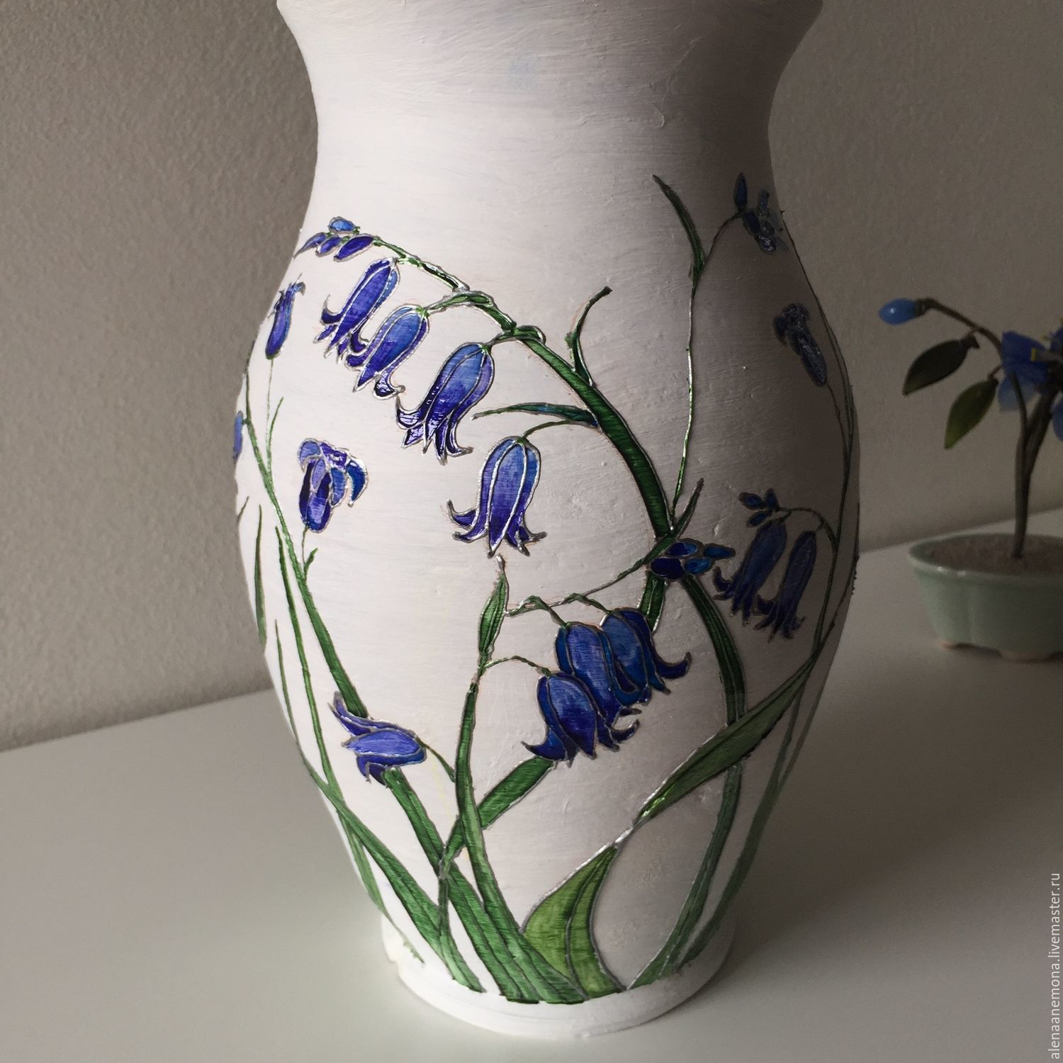 Vase Decorative Hand Painted Shop Online On Livemaster With