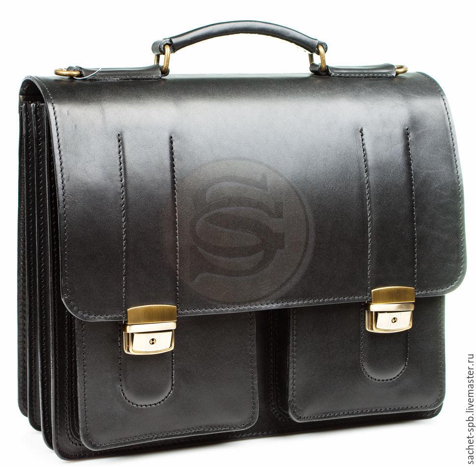 Men's leather briefcase Prestige black, Men\'s bag, St. Petersburg,  Фото №1