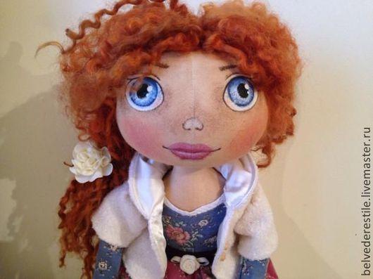 """Куклы тыквоголовки ручной работы. Ярмарка Мастеров - ручная работа. Купить Текстильная кукла-тыквоголовка """"Леди Астрид"""". Handmade. Бежевый"""