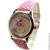 Украшения ручной работы. Ярмарка Мастеров - ручная работа Дизайнерские наручные часы Cherry СupCake. Handmade.