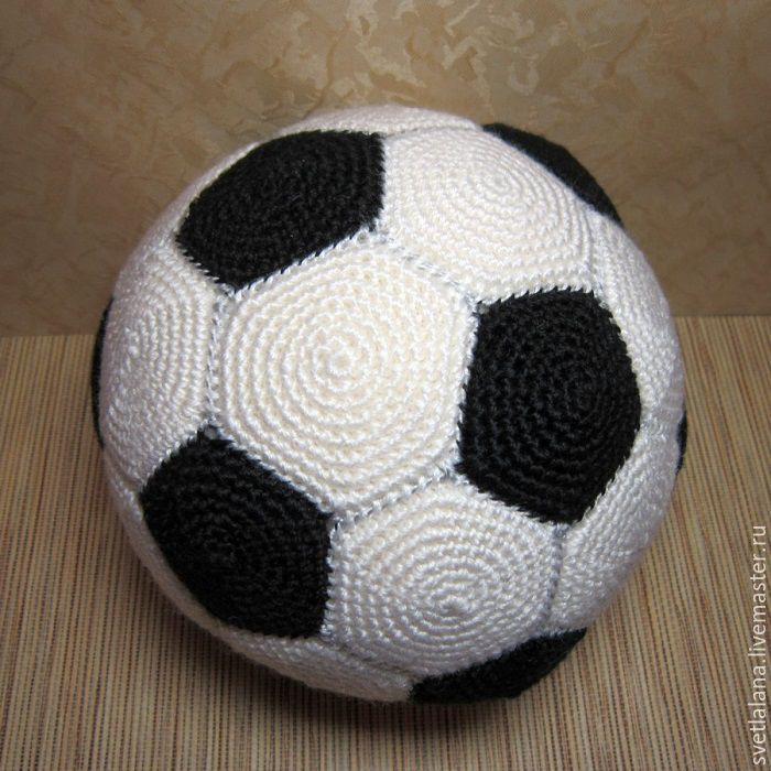 Knitted soccer ball of any size – shop online on Livemaster with ...