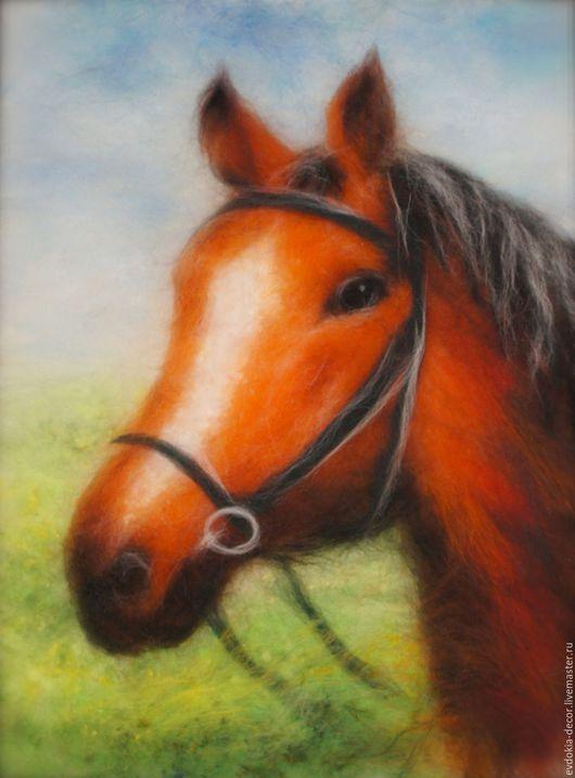 Животные ручной работы. Ярмарка Мастеров - ручная работа. Купить Голова лошади.. Handmade. Лошадь, картина, картина лошади, Живопись