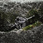 Украшения handmade. Livemaster - original item Guardian of the Hill Silver Brooch / Fibula. Handmade.