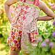Одежда для девочек, ручной работы. Ярмарка Мастеров - ручная работа. Купить Комбинезон боди летний сад Хлопок 2 г 4 5 л. Handmade.