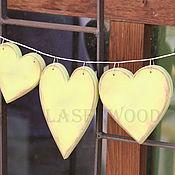 Для дома и интерьера ручной работы. Ярмарка Мастеров - ручная работа сердце из дерева. Handmade.