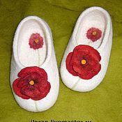 Обувь ручной работы. Ярмарка Мастеров - ручная работа Тапочки валяные для дома. Handmade.
