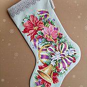 Подарки к праздникам ручной работы. Ярмарка Мастеров - ручная работа Рождественский сапожок (носок). Handmade.