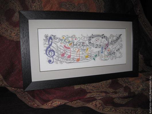 Символизм ручной работы. Ярмарка Мастеров - ручная работа. Купить Музыка любви. Handmade. Вышивка, мулине, канва, музыкальная