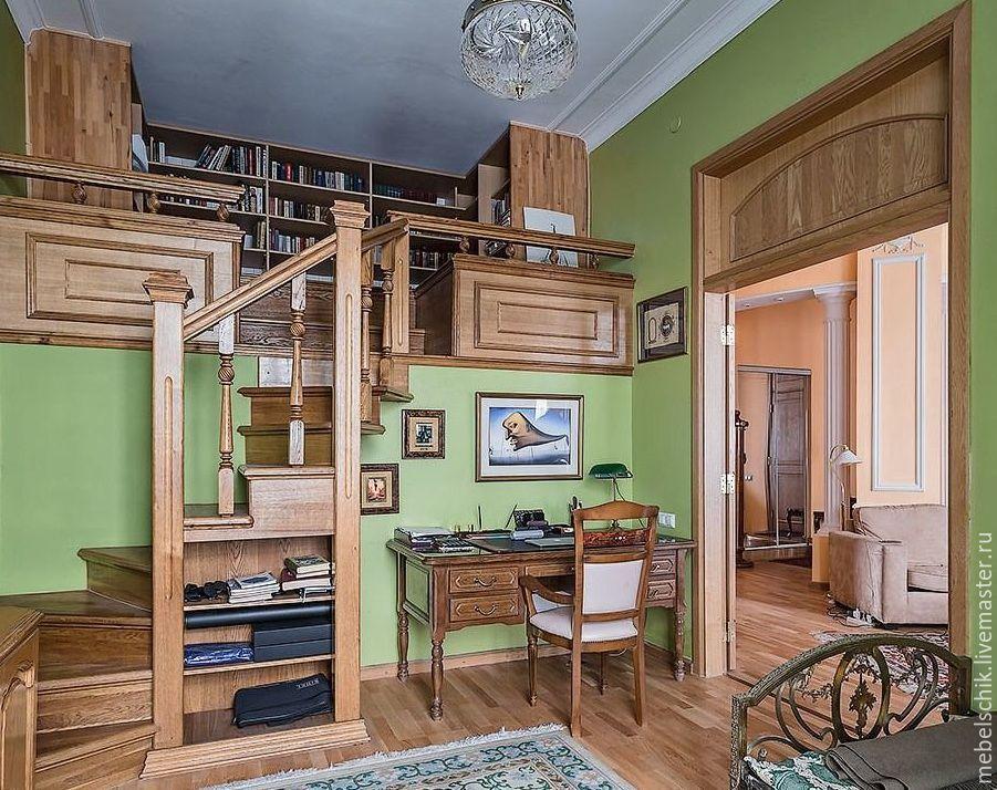 лестница дубовая, кабинет, двери
