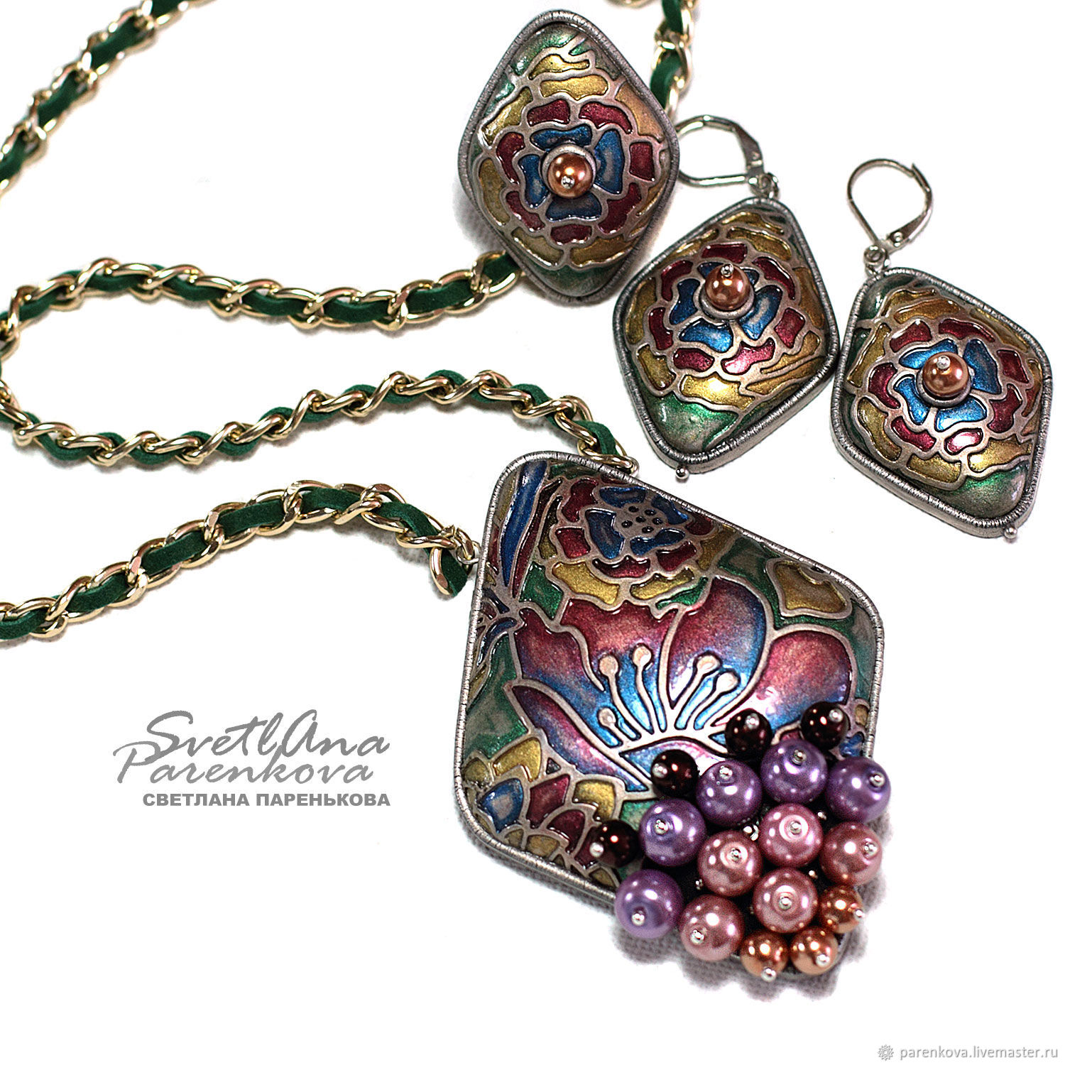 Premonition jewelry set (439) handmade by the author, Jewelry Sets, Salavat,  Фото №1