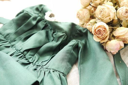 Одежда для кукол ручной работы. Ярмарка Мастеров - ручная работа. Купить Изумрудное платье. Handmade. Тёмно-зелёный, романтично