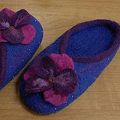 """Обувь ручной работы. Ярмарка Мастеров - ручная работа Домашние тапочки """"Цветок"""". Handmade."""