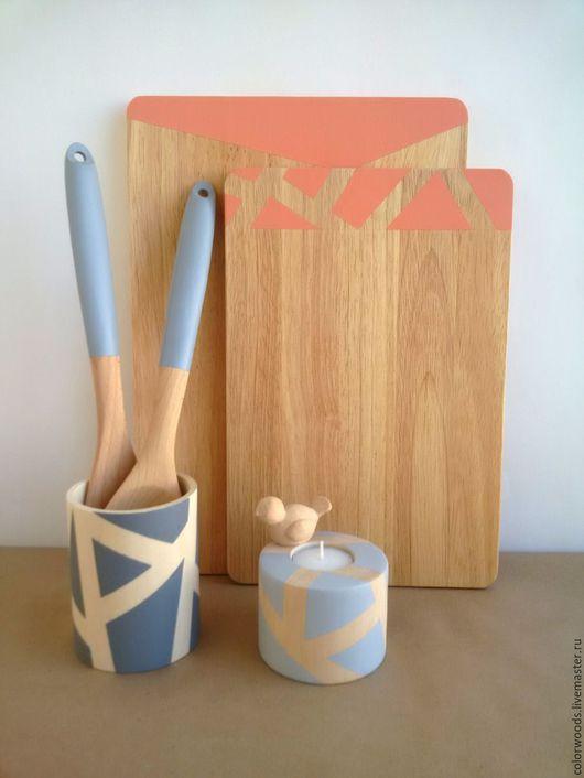 доска с геометрическим рисунком, разделочная доска из дерева, декор для кухни, доска для сыра