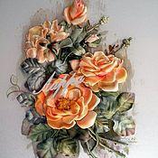 """Картины и панно ручной работы. Ярмарка Мастеров - ручная работа картина """"Чайная роза"""". Handmade."""