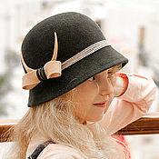 Аксессуары handmade. Livemaster - original item Hat Cloche gray. Handmade.