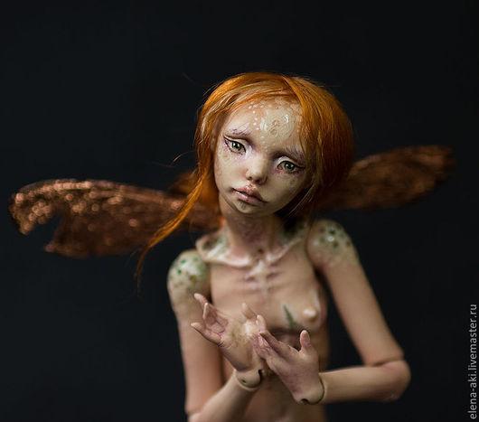 Коллекционные куклы ручной работы. Ярмарка Мастеров - ручная работа. Купить Элька, фарфоровая шарнирная кукла. Handmade. Бежевый