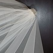 Свадебный салон handmade. Livemaster - original item Alina Bridal veil with plain edge.. Handmade.
