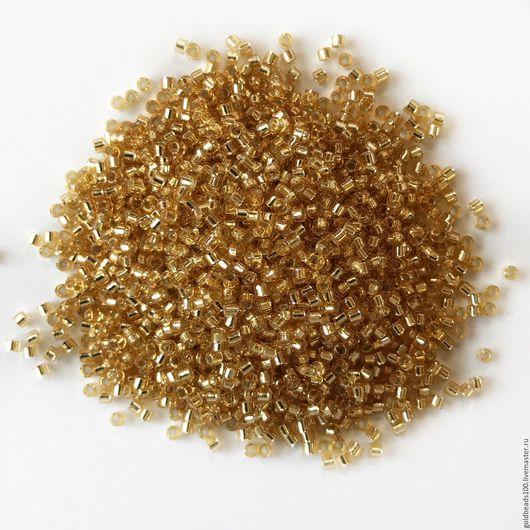 Для украшений ручной работы. Ярмарка Мастеров - ручная работа. Купить 10 ГР MIYUKI DELICA 11/0 DB42 silver-lined gold. Handmade.