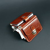 Wallets handmade. Livemaster - original item Hybrid.Small wallet, leather cardholder. Genuine leather.. Handmade.