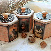 Для дома и интерьера handmade. Livemaster - original item Jars hex