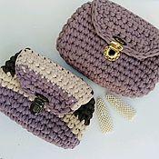Поясная сумка ручной работы. Ярмарка Мастеров - ручная работа Вязанная поясная сумочка. Handmade.