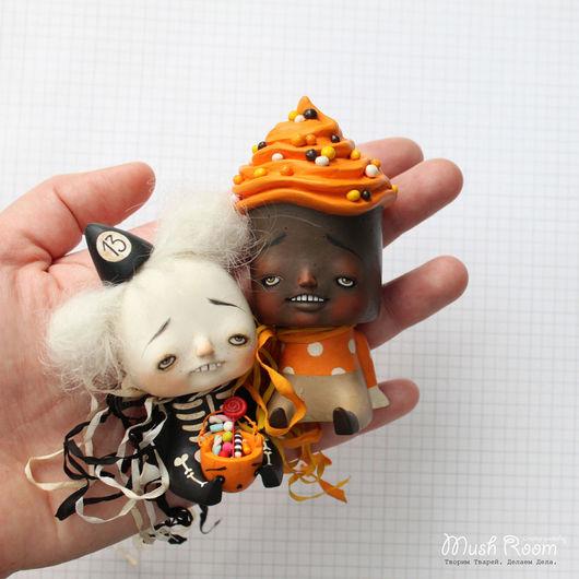 Коллекционные куклы ручной работы. Ярмарка Мастеров - ручная работа. Купить Малыш Иш и Тыквенный Лу. Handmade. Рыжий, сладость