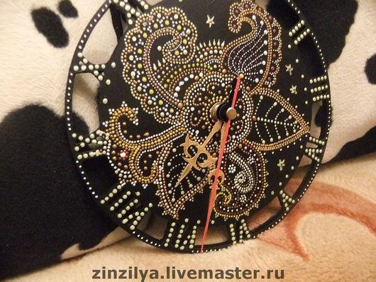 """Часы для дома ручной работы. Ярмарка Мастеров - ручная работа. Купить часы""""цветочные"""". Handmade. Авторские часы, контуры акриловые"""