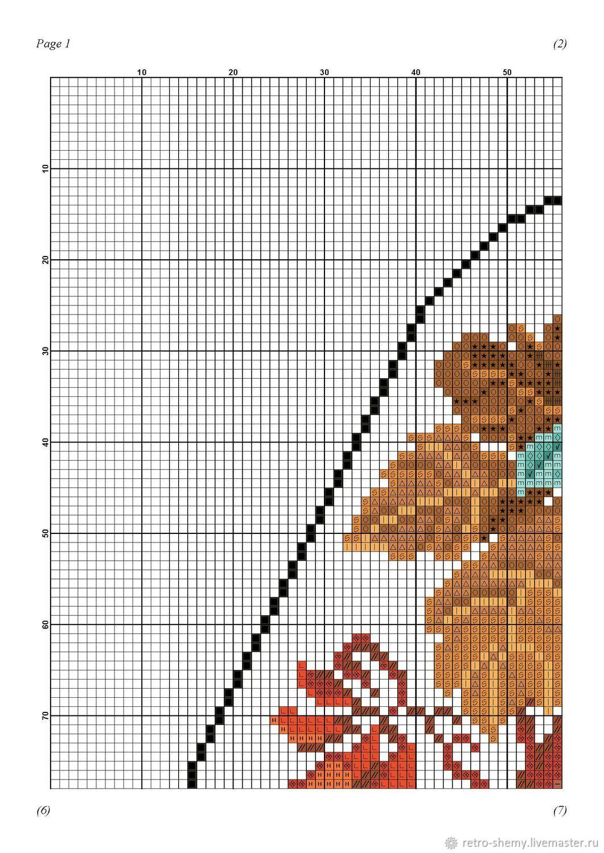 Схема вышивки бусами