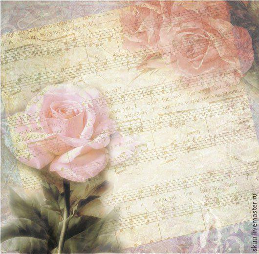 Открытки и скрапбукинг ручной работы. Ярмарка Мастеров - ручная работа. Купить Бумага для скрапбукинга Акварельные цветы Розы. Handmade.