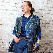 Одежда handmade. Livemaster - original item Felted vest Denim!. Handmade.
