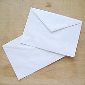 Материалы для творчества ручной работы. Ярмарка Мастеров - ручная работа Белые конверты. Handmade.