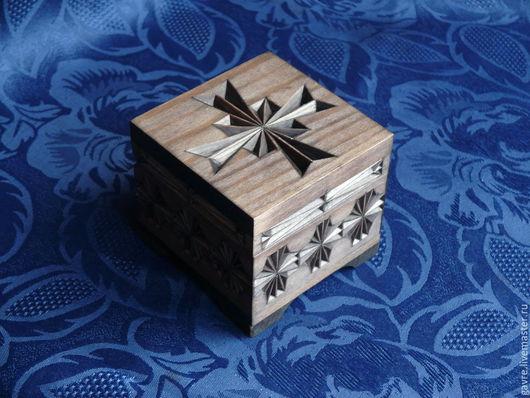 Шкатулки ручной работы. Ярмарка Мастеров - ручная работа. Купить Шкатулка деревянная резная. Handmade. Темно-серый, шкатулка для мелочей