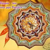Для дома и интерьера handmade. Livemaster - original item Wall clock design mandala the Golden Gifts of Fortune leaves boho. Handmade.