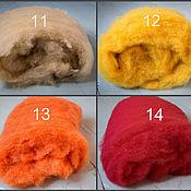 Материалы для творчества ручной работы. Ярмарка Мастеров - ручная работа Кардочес Финский, Piiku, 25 мкр, окрашенный - разные цвета. Handmade.