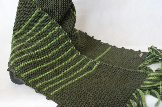 шарф, вязаный шарф, шарф вязаный, связать шарф, шарф с кистями, купить шарф интернет, купить шарф интернет магазин, полосатый шарф, зеленый шарф