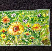 Картины и панно handmade. Livemaster - original item Playing with a yellow.. Handmade.