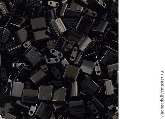 Для украшений ручной работы. Ярмарка Мастеров - ручная работа. Купить Бисер Tila 401 Opaque Black. Handmade. Черный