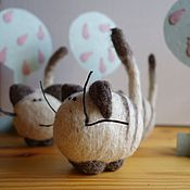 Куклы и игрушки handmade. Livemaster - original item Wool (felt) the cat in the box Roonya. Handmade.