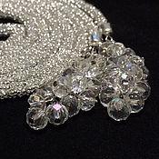 Украшения handmade. Livemaster - original item Lariat beaded crystal harness necklace waist tie with pendant Lariat. Handmade.