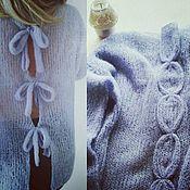 Одежда ручной работы. Ярмарка Мастеров - ручная работа Пуловер светло-лавандового цвета Пуловер из шелка Пуловер из альпаки. Handmade.