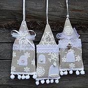Сувениры и подарки ручной работы. Ярмарка Мастеров - ручная работа Новогодние домики-саше с запахом лаванды, аромасаше. Handmade.