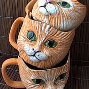 Посуда handmade. Livemaster - original item Set of 3 mugs