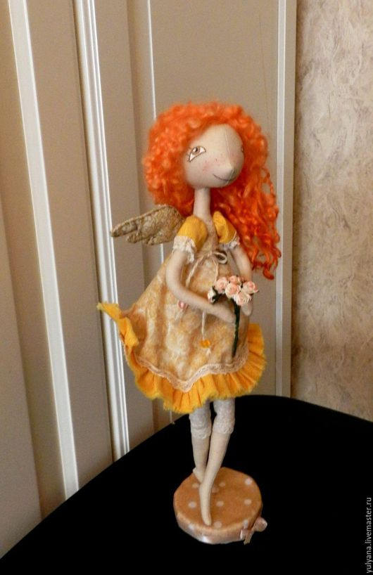 Куклы тыквоголовки ручной работы. Ярмарка Мастеров - ручная работа. Купить Маленький ангел. Handmade. Комбинированный, текстильная кукла