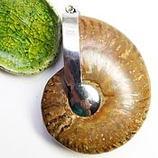 Украшения handmade. Livemaster - original item Large Pendant Ammonite Ancient ocean. Handmade.
